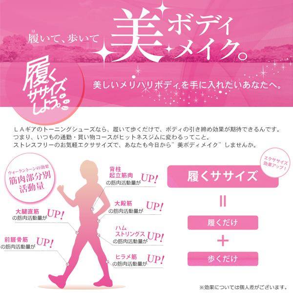 アメリカ発!【LAギア】履くだけエクササイズ★トーニングシューズ