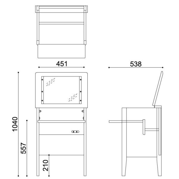 【おしゃれ収納シリーズ】ナチュラルデザイン・オイル塗装ドレッサー&チェアー align=baseline