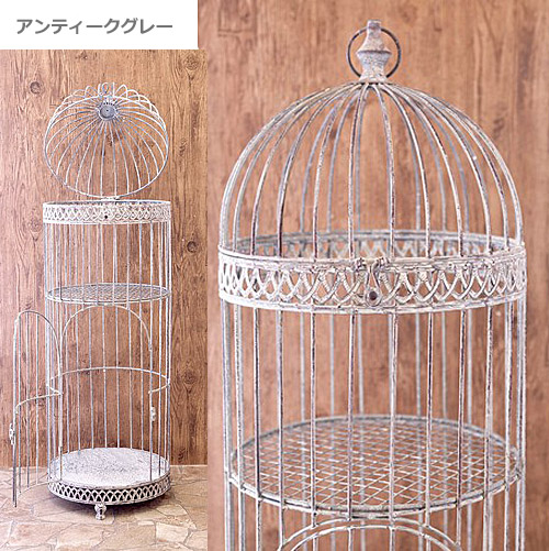 【ガーデニング】アイアン・鳥かごプランター台