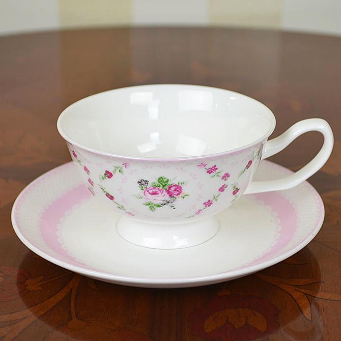フレンチローズデザインカップ&ソーサー