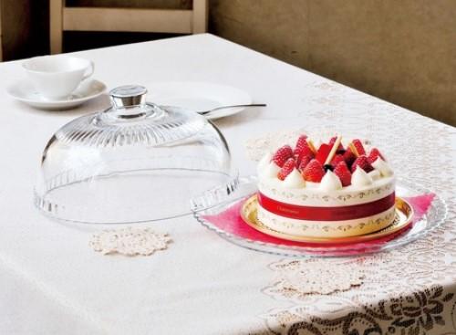 ガラス製 ケーキドーム